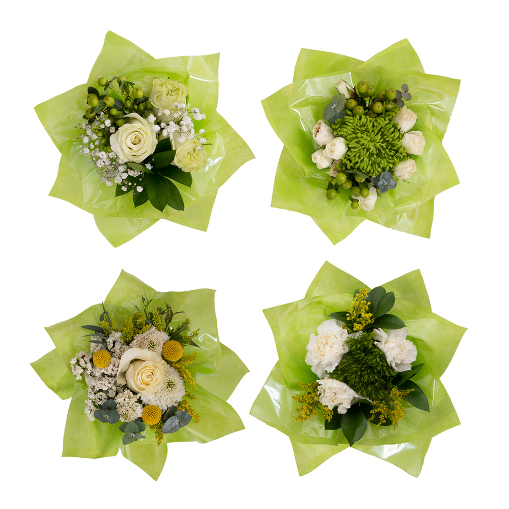 Mini Floral Bouqueto Green - pack 4