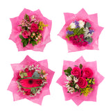 Mini Floral Bouqueto Hot Pink - pack 4