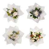 Mini Floral Bouqueto White - pack 4