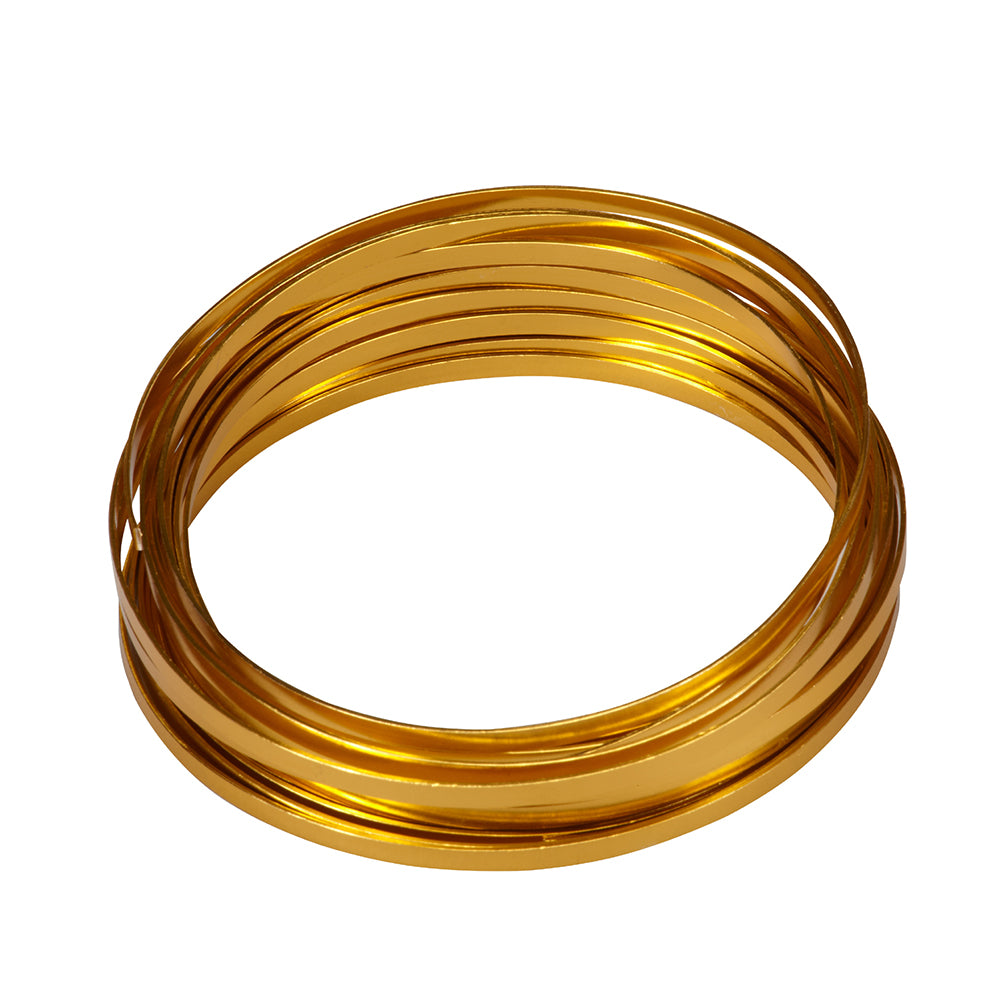 "OASIS Flat Wire, Gold 3/16""W x 32.8 ft. roll, 1 roll"