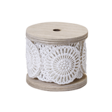OASIS  Medallion Lace, Antique White Wrap - 1 roll