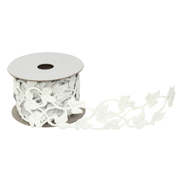 OASIS Ivy Fabric Wrap Adhesive Back White, 1 Roll