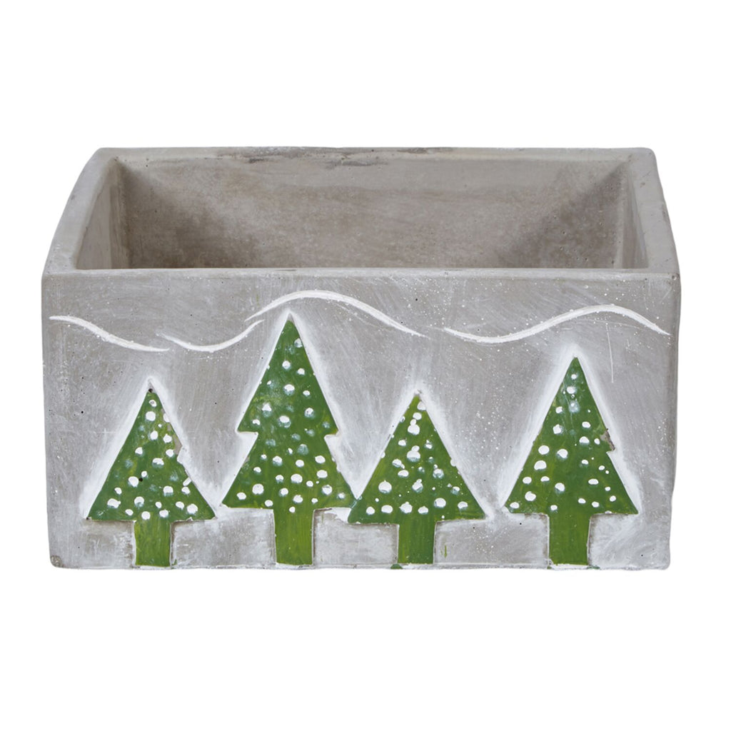 "OASIS™ Ceramic Tree Low - Cube, Gray 6"" - 6 pack per case"