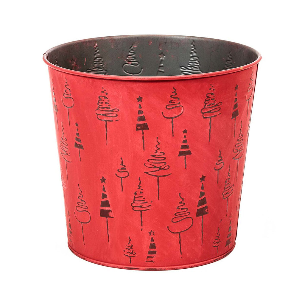 "OASIS Tree Tin - Red 6-1/2"" - 9  per case"