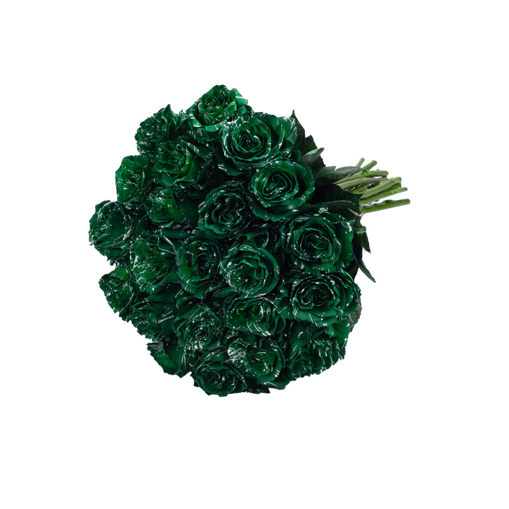 Green Confetti Painted Roses