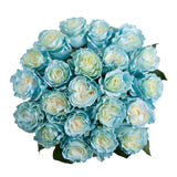 Light Blue Painted Roses