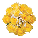 Dozen Roses Bouquet Yellow - pack 18