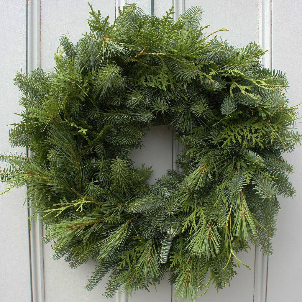 "Christmas Mixed Greens 24"" Wreath"