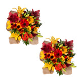 Fall Explosion Bouquet with Burlap - 31 Stems - 2 Pack
