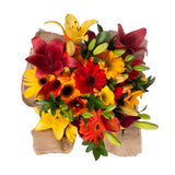 Fall Explosion Bouquet with Burlap - 4 Pack