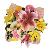 Pretty Little Lilies Bouquet with Burlap - 4 Pack