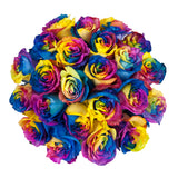 Rainbow Tinted Roses