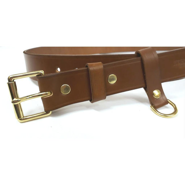 Custom Sized Tan Bridle Leather Belt