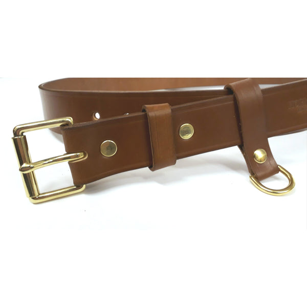 "Cartridge pouch belt in Tan Sedgwick's Bridle Butt Leather 12 Hole 28"" to 40""."