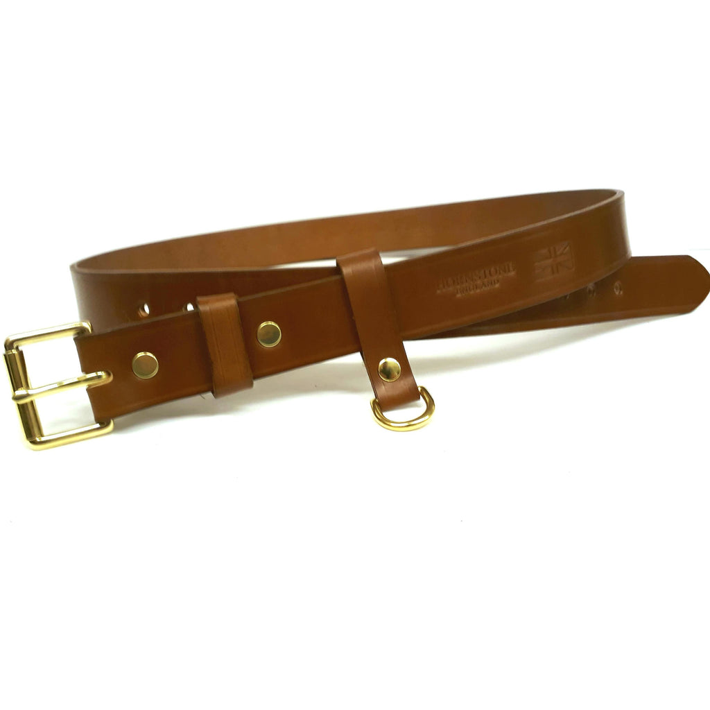 "Cartridge pouch belt in Tan Sedgwick's Bridle Butt Leather 12 Hole 34"" to 46""."