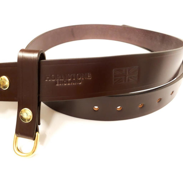 Custom Sized Burgundy Bridle Leather Belt