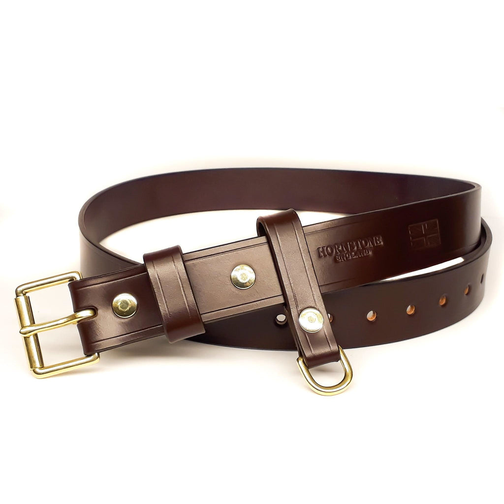 burgundy / ox blood leather belt