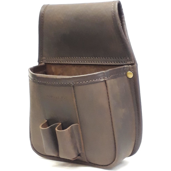 Shotgun Cartridge Pouch Vintage Brown leather holds 40 (RGB 40)