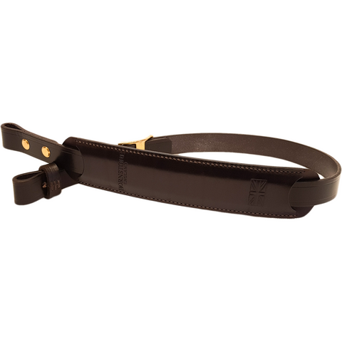Rifle Gun sling Dark Brown English Bridle Leather