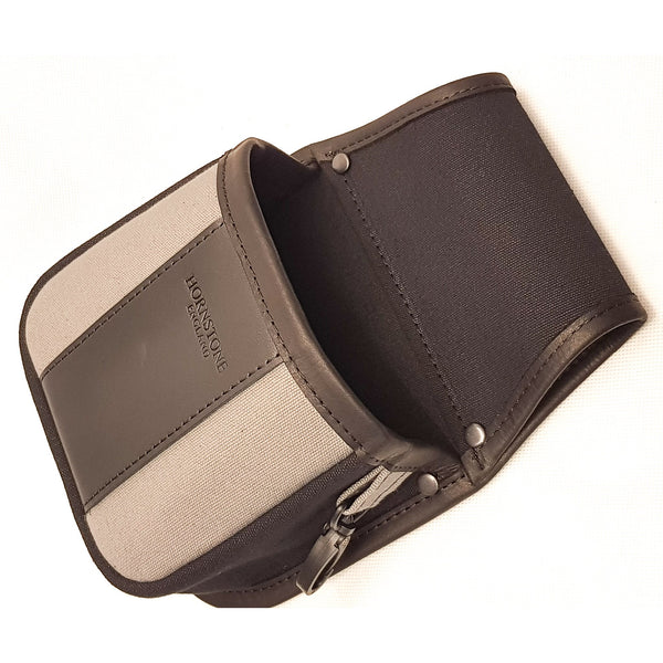Shotgun cartridge pouch, standard box or loose 25-30 black and grey canvas