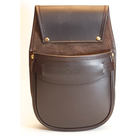 Shotgun Cartridge Pouch Havana Brown Leather & Pigskin Sporter Classic 50