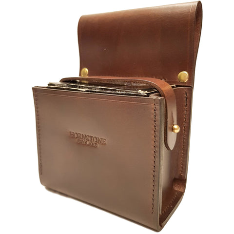 Leather Cartridge Box Holder Brown