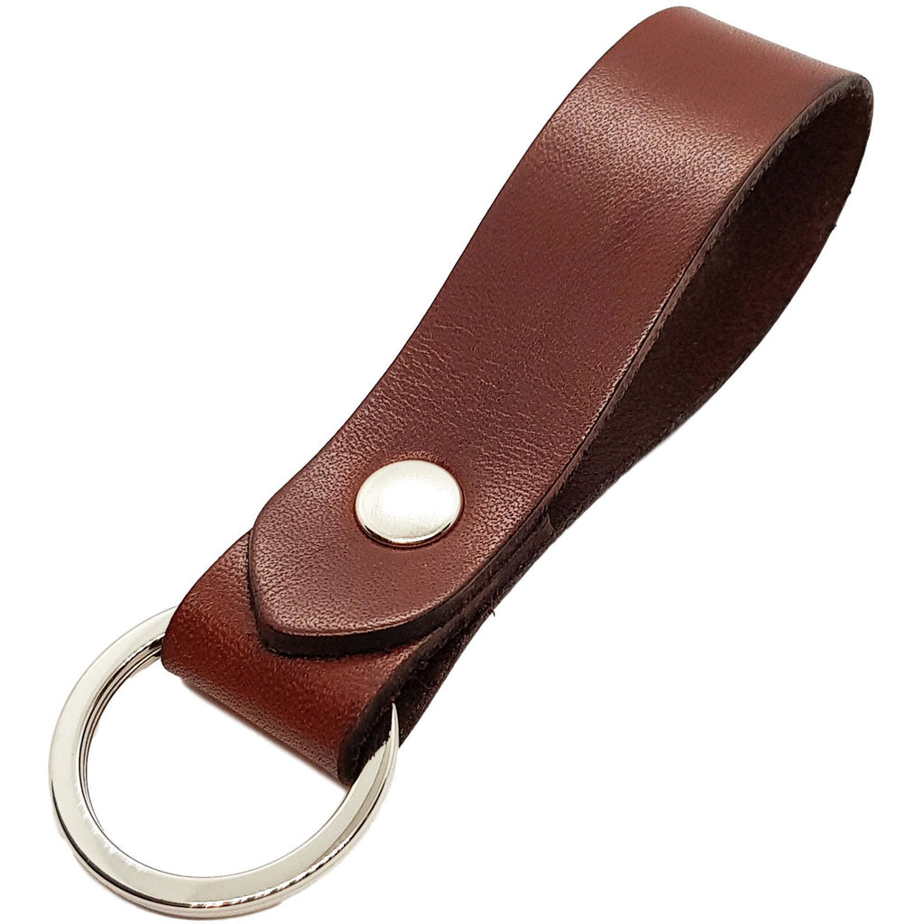 Keyring Chestnut Vegetable Tanned Leather