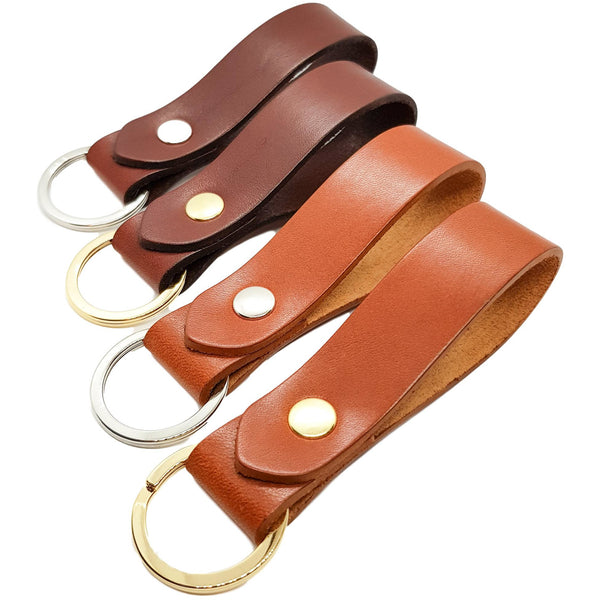 Keyring Saddle Tan Vegetable Tanned Leather