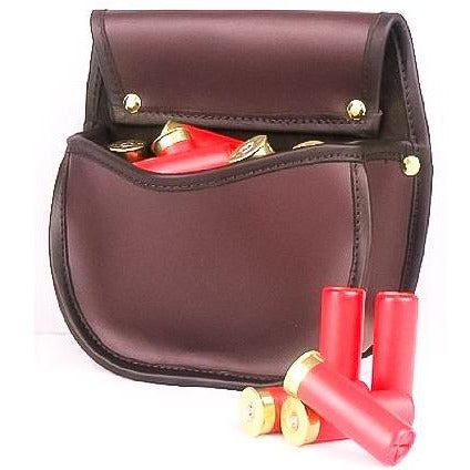 Shotgun Cartridge Pouch Sporter 30 Ox Blood/Burgundy Leather