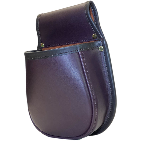 Leather Shotgun Cartridge Pouch Limited Run In Rich Plum Holds 50 x 12g