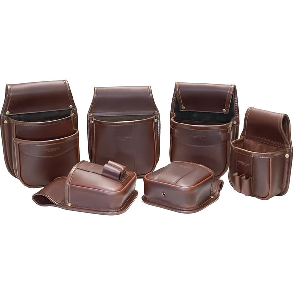 Shotgun Cartridge Pouch Sporter 50 Chestnut Brown Leather holds up to 50 x 12g