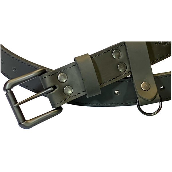 "Matt Black Leather Belt 12 Hole Belt  Size 34"" to 46"" 137cm long"