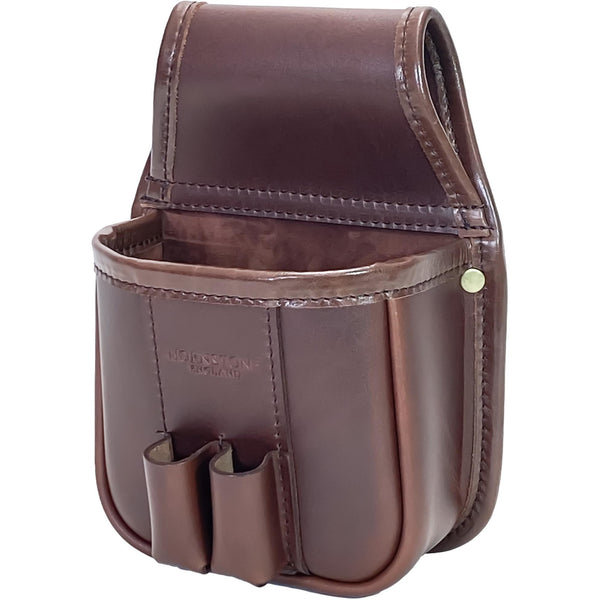 Cartridge Pouch RGB25 Chestnut Brown Leather Holds 1 x Box or Loose Shells Optional Loops And Linings