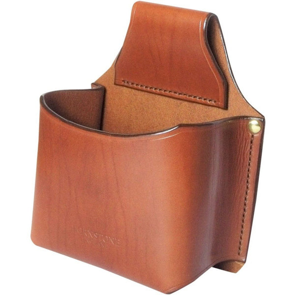Shotgun Cartridge Box Holder Saddle Tan Leather