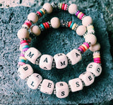Wooden Name and Word Bracelets