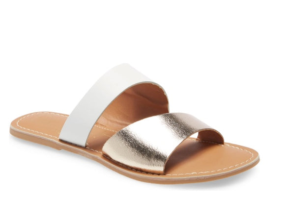 COASTAL SLIDE GOLD SANDAL BY MATISSE