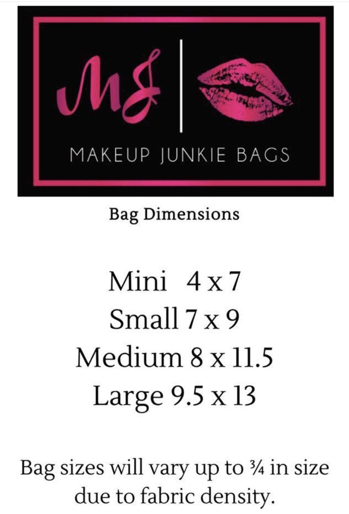 Glam Stripe : By Makeup Junkie Bags