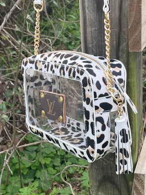 MM Leopard Ivory Stadium Bag