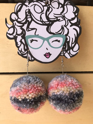 Sunset Pom Pom Earrings
