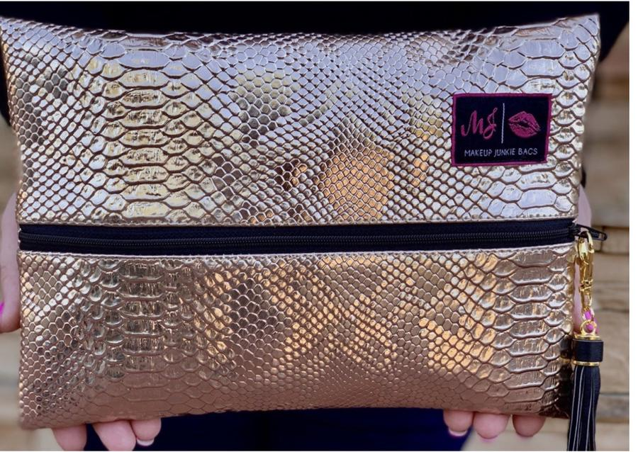 Rose Gold Python : By Makeup Junkie Bags