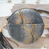MM Circular - Metallic Snakeskin Bag