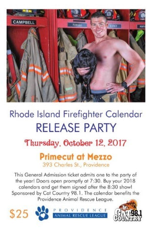 General Admission Rhode Island Firefighter Calendar Release Party ticket