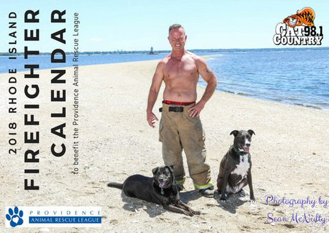 Personally-signed 2018 Rhode Island Firefighter Calendar