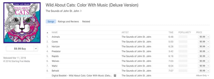 Color With Music Now On iTunes