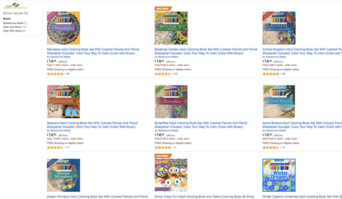 Step 2 Select Any Of Our Coloring Books And Add It To Your Amazon Cart The Only Exceptions Are Natures Wonders With Music CD Botanical Garden