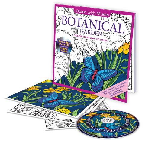 Color With Music Botanical Garden Adult Coloring Book