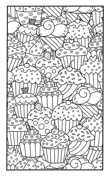 Sweet Treats Adult Coloring Book With Color Pencils Travel