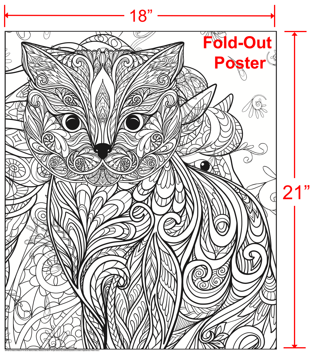The coloring book poster - Wild About Cats Adult Coloring Book With Bonus Fold Out Poster And Music Cd