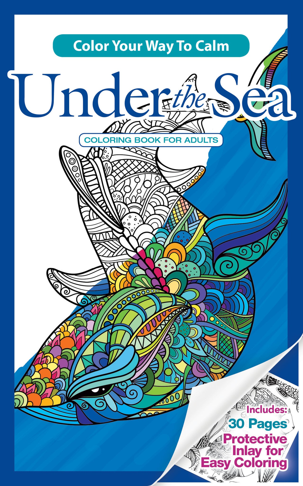 UNDER THE SEA Adult Coloring Book Travel Size