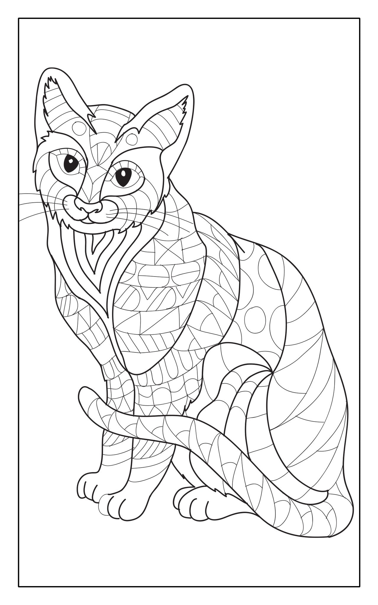 Animal World Adult Coloring Book Travel Size